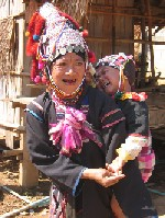 Akha Woman in Village