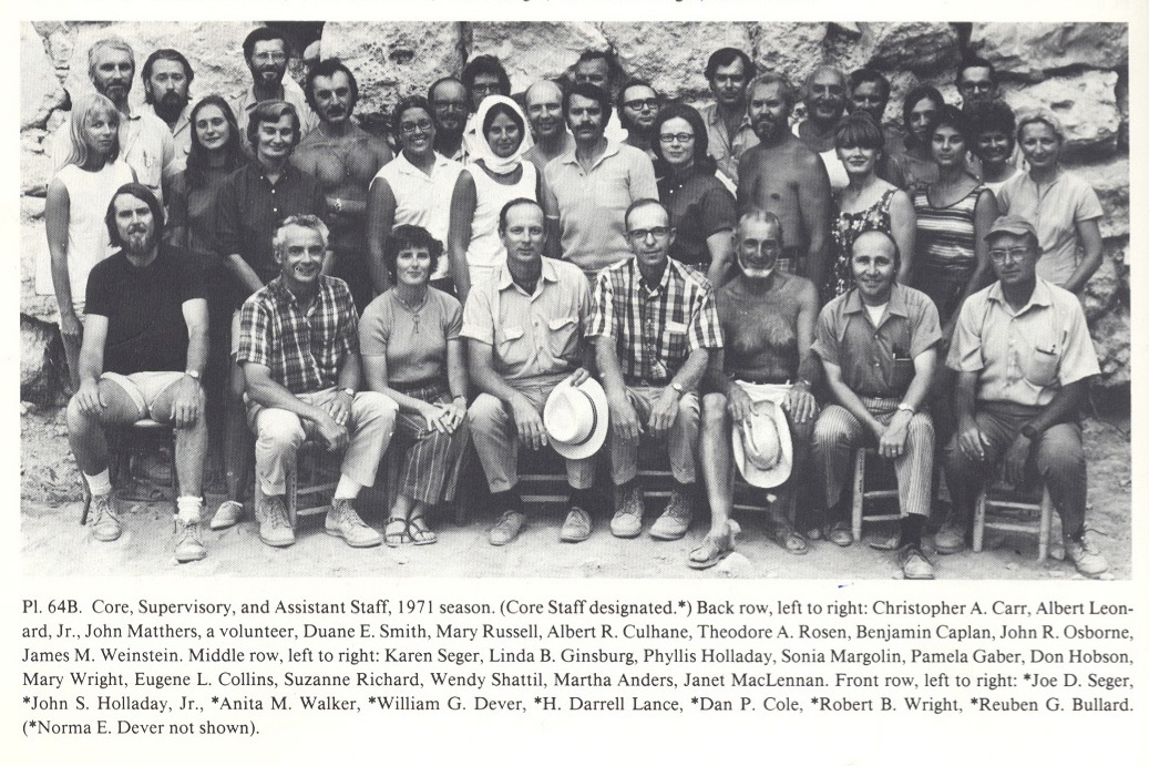 Donald Hobson and Tel Gezer Staff