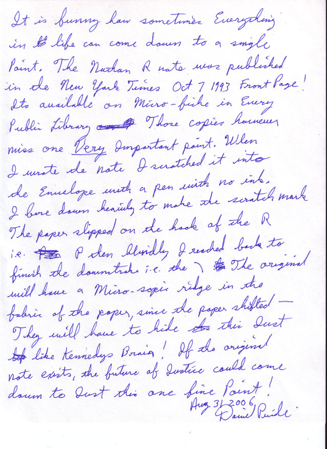 Handwriting Sample